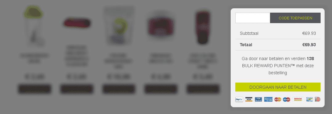 Kortingscode veld website bulk powders