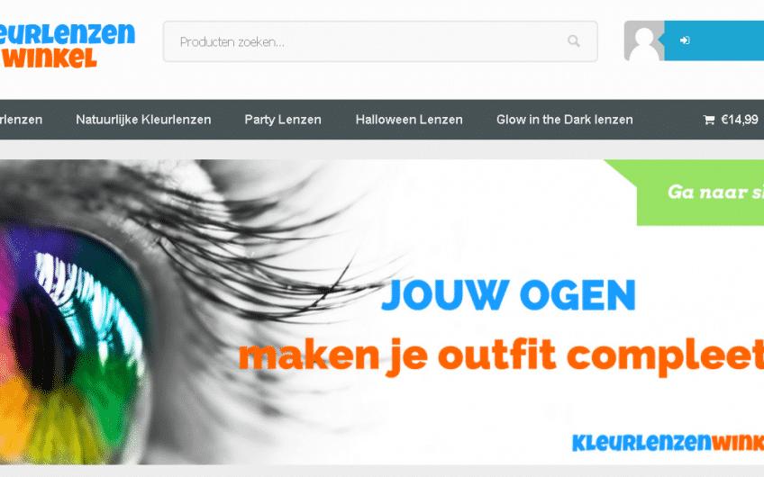 De webshop van kleurlenzenwinkel met party lenzen