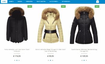 Frontpage website Online Jas Kopen